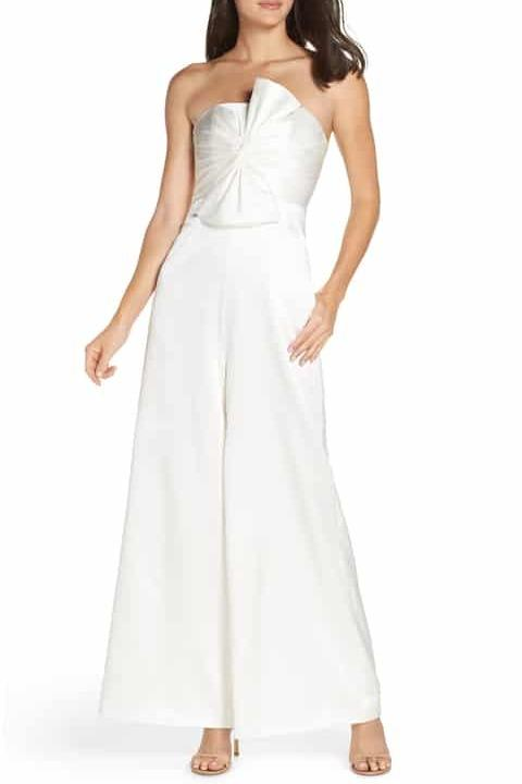 BNWT FAME & PARTNERS WHITE THE ANNIE JUMPSUIT - SIZE 8 AU/4 US (RRP RRP $779)