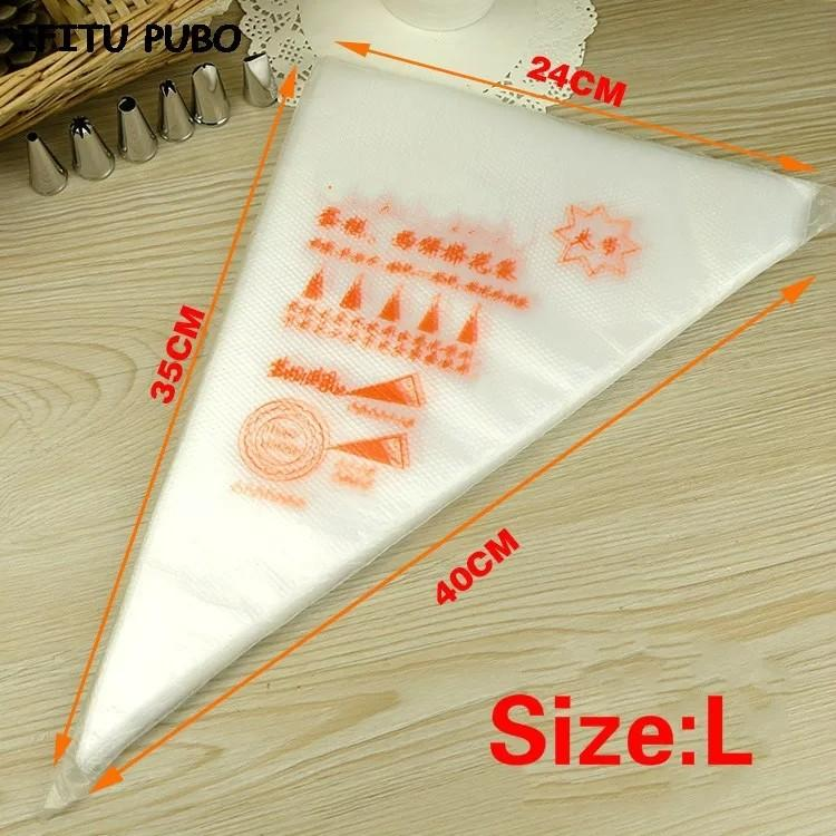 Brand new 100 pcs large disposable piping bags cake decorating