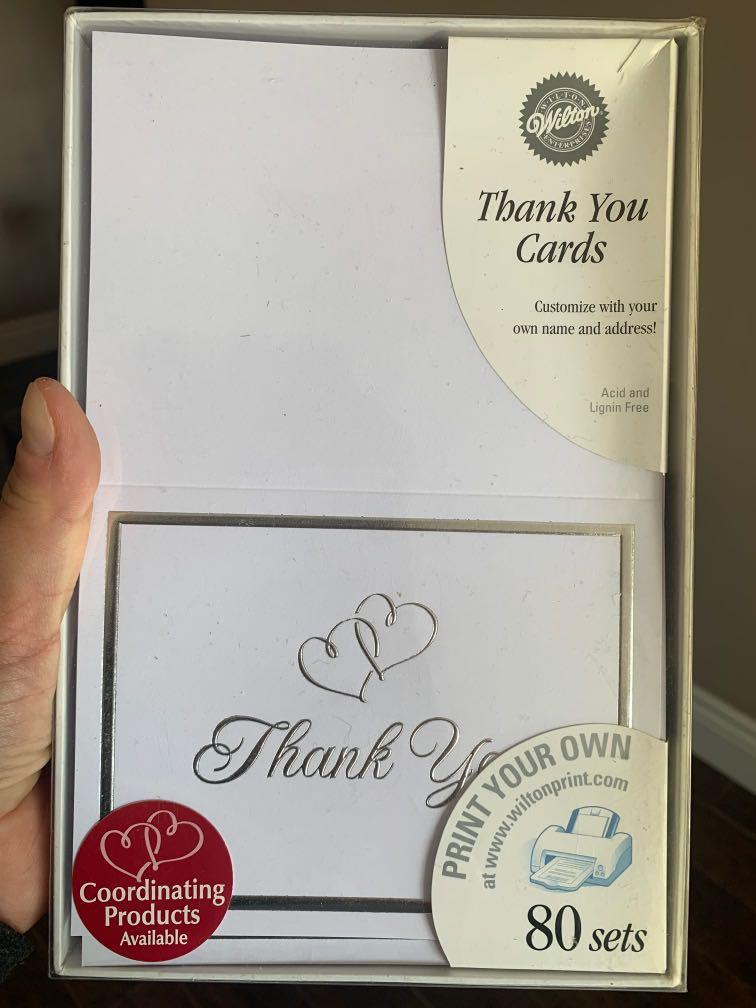 Brand new thank you cards  - for wedding or events