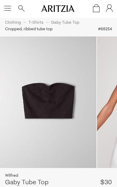 """BRAND NEW WITH TAGS ARITZIA WILFRED """"GABY"""" TUBE TOP SIZE SMALL IN BLACK !"""