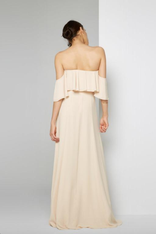 BRAND NEW WITH TAGS FAME & PARTNERS CHAMPAGNE RIO GOWN - SIZE 8 AU ($299)