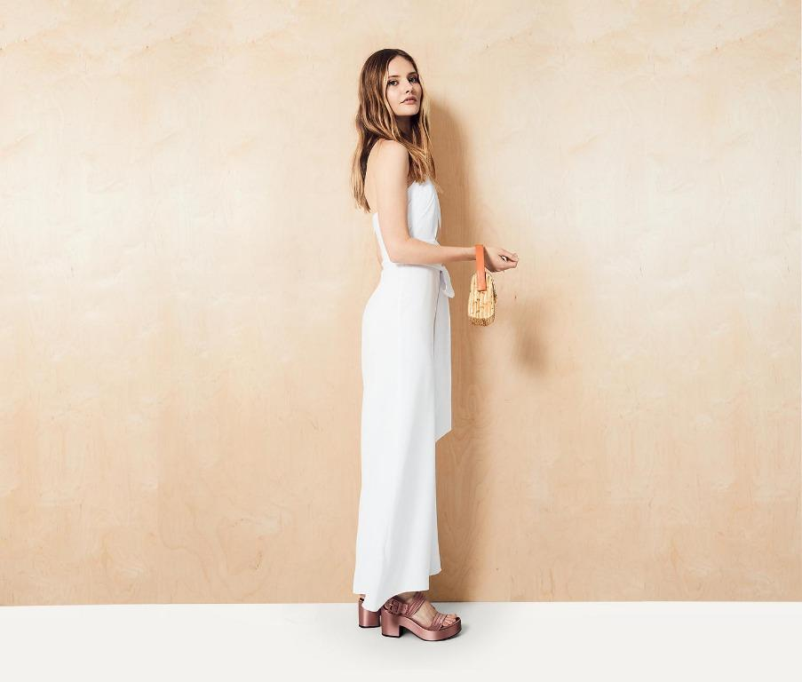 BRAND NEW WITH TAGS FAME & PARTNERS WHITE RAE JUMPSUIT - SIZE 8 AU (RRP $389)