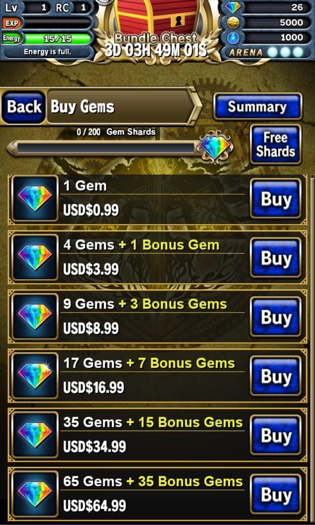 Brave frontier cheap gems