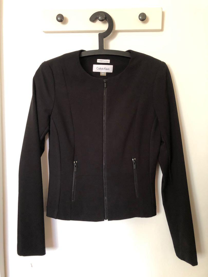 Calvin Klein Invisible Fit Solutions Jacket Blazer in Black
