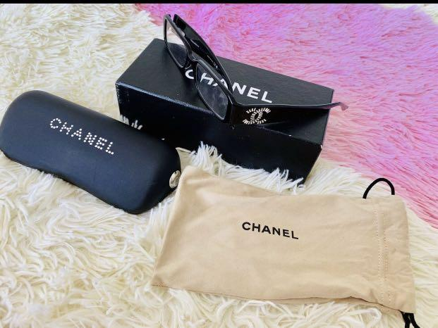 Chanel glasses. 100% authentic, reason selling bought new pair for me no need this anymore, no marks on frame .. beat and clean come with orignal box and case