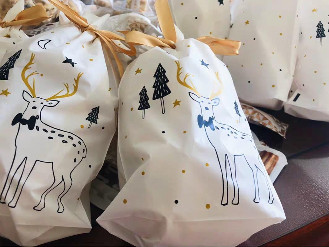 Christmas Gift Bag / Candy Bag / Biscuit Bag/Christmas Goodie Bag
