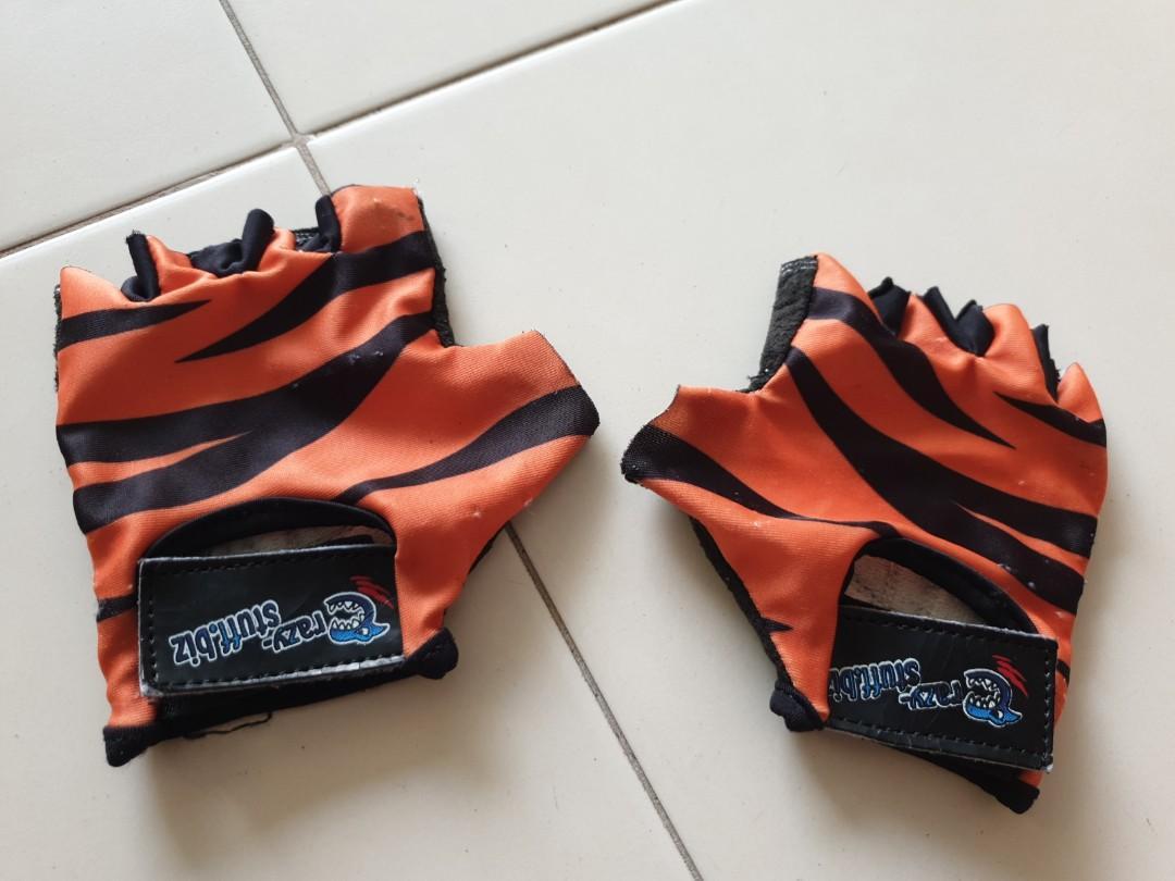 Crazy-stuff kids cycling gloves (tiger print!)