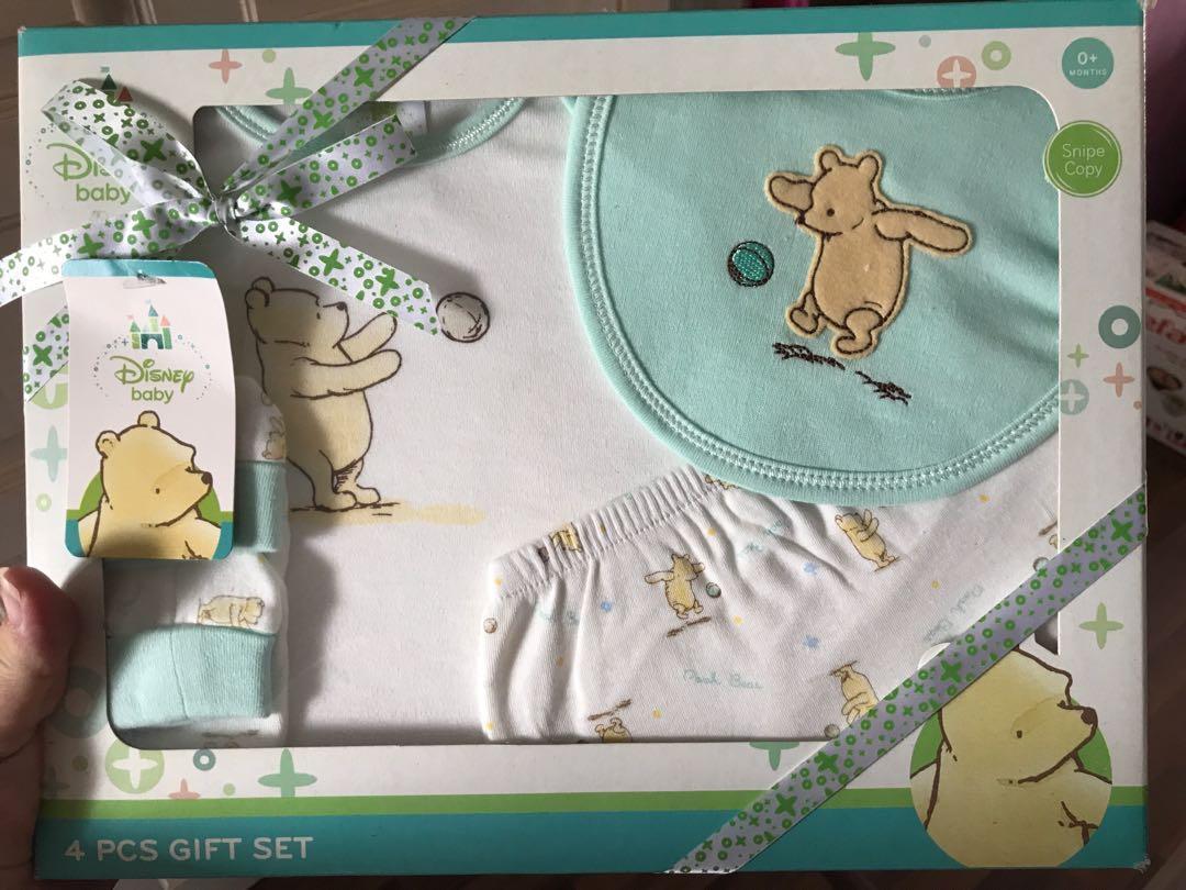 Baby Girl Pink Disney Winnie The Pooh Bear Short Sleeve Bodysuit /& Shorts BNWT 2