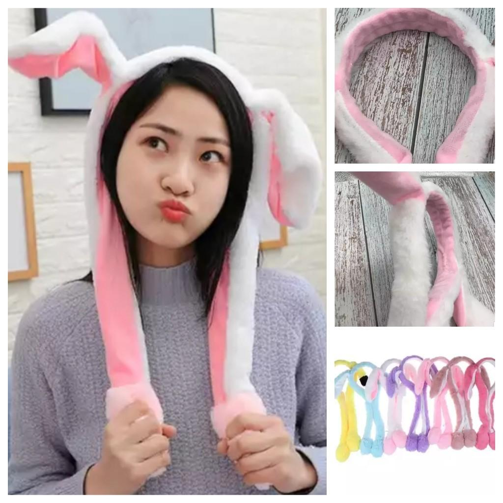 Fluffy Plush Headband Moving Airbag Rabbit Ears