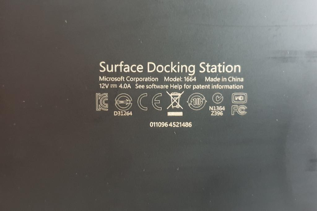 GenuineMicrosoft Surface Pro 3 Docking Station Model 1664, With Power Supply