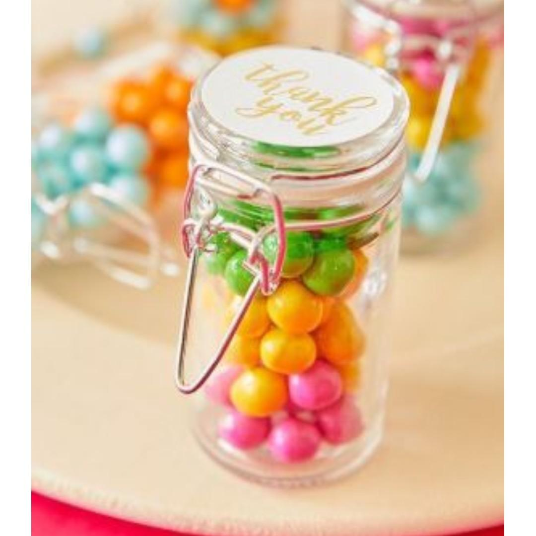 Glass Snap-Top Favor Jars / for Gift, Wedding, Bithdays, etc