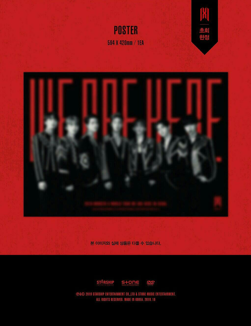 (GO) MONSTA X WORLD TOUR < WE ARE HERE > IN SEOUL DVD / KIHNO VER