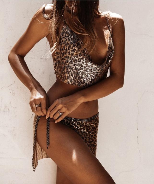 Grace Bijoux/The Naked Tiger - Jett Mesh Leopard Skirt and Top