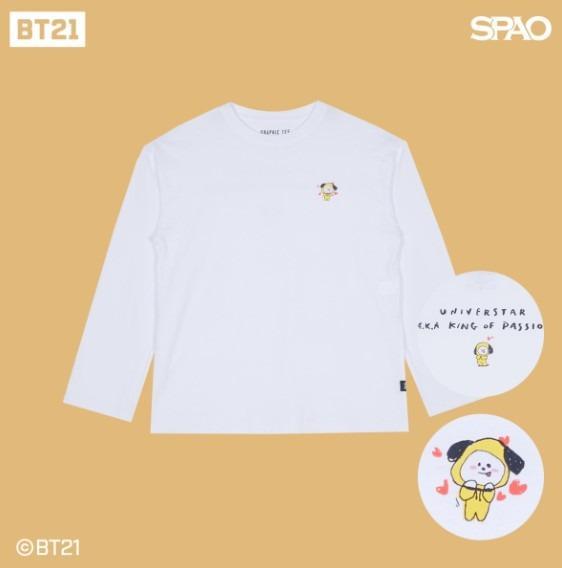 [KOREA PS/NO EMS] BT21 BTS SPAO - LONG SLEEVE T-SHIRT