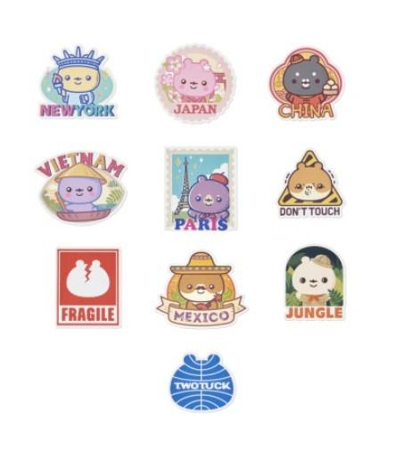 [KOREA PS/NO EMS] MONSTA X TWOTUCKGOM - TRAVEL STICKER PACK