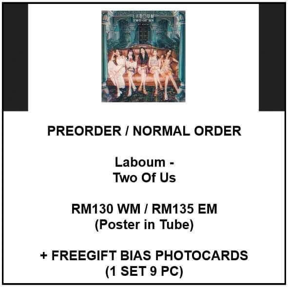 Laboum - Two Of Us - PREORDER/NORMAL ORDER/GROUP ORDER/GO + FREE GIFT BIAS PHOTOCARDS (1 ALBUM GET 1 SET PC, 1 SET GET 9 PC)