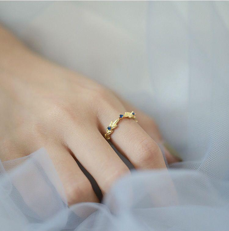Brand new moment of love gold and blue ring