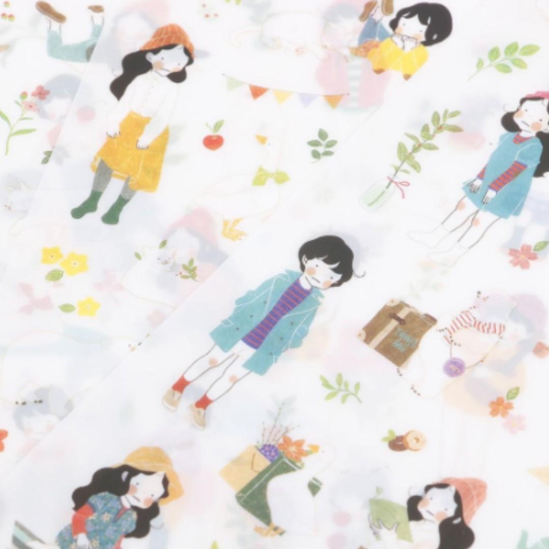 NEW 6PCS Girl Korean Kids Decorative Scrapbooking Stickers PVC Cartoon