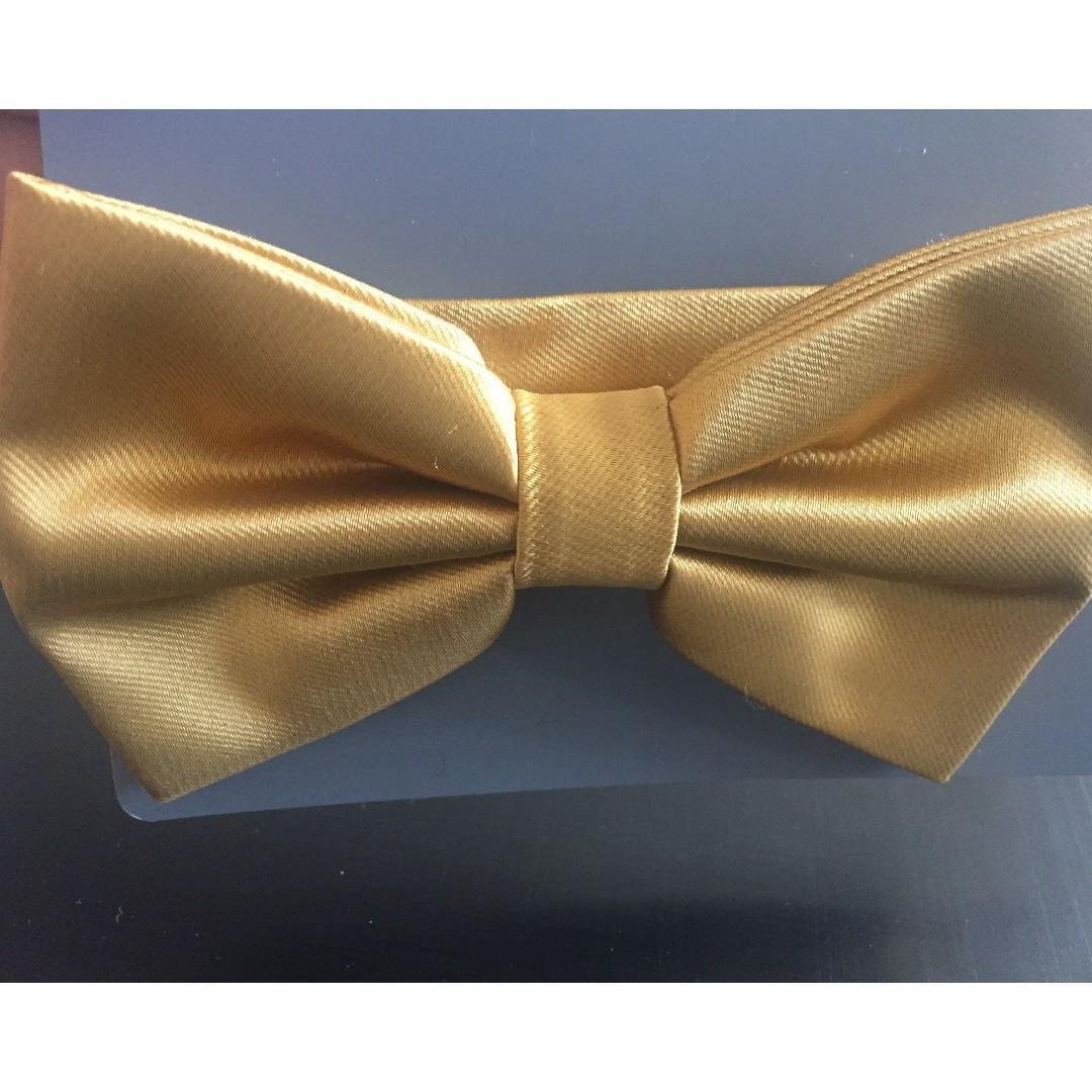 NEW!!! Microfibre BOW TIE - COLOUR: GOLD- brand new never opened