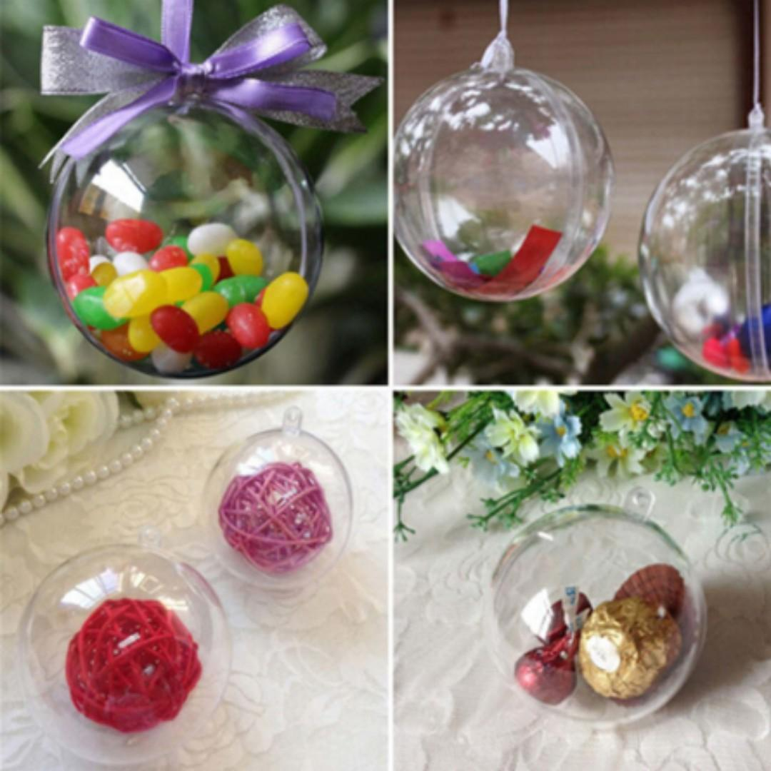 NEW Ornament Home Clear Christmas Hanging Ball Decorations