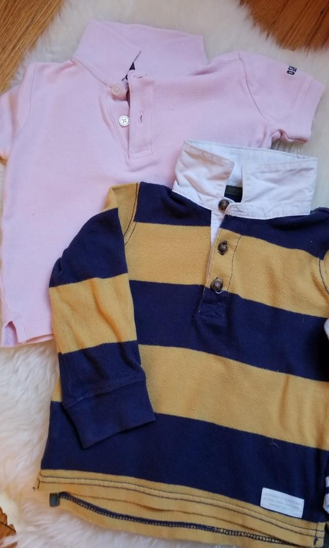 Oshkosh carters varsity 12-18mth baby clothing lot capsule collection. New condition. Pick up Gerrard and main  or 20 bay or yorkville. for $1 more. 1. Pink Polo $4 2. Rugby shirt $4 3. Varsity cardigan $10 4. Suspenders and