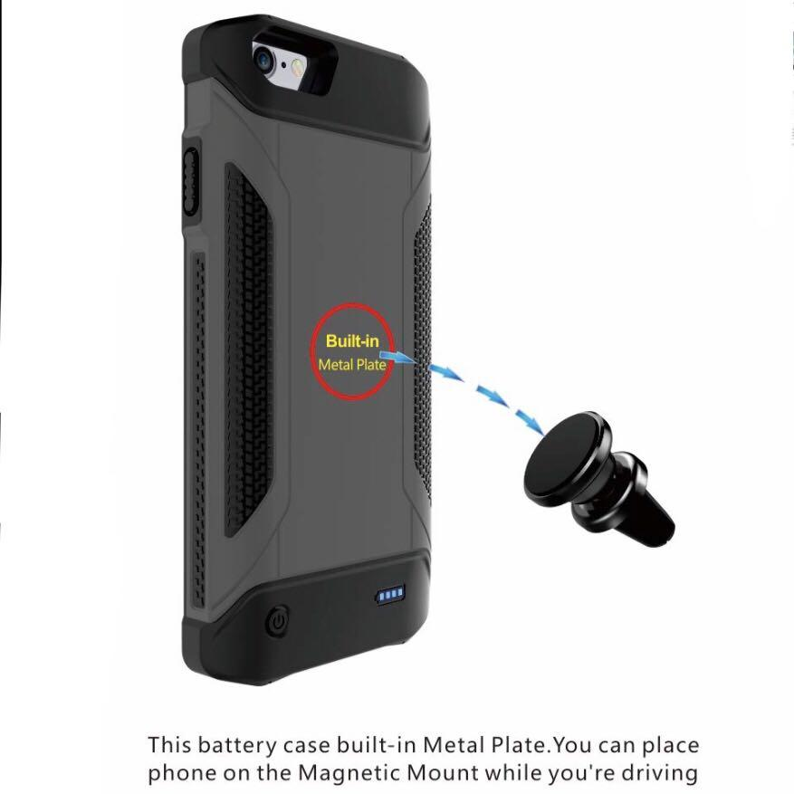 """Portable Power Case Charger for iPhone 5.5"""" (5000mAh)"""