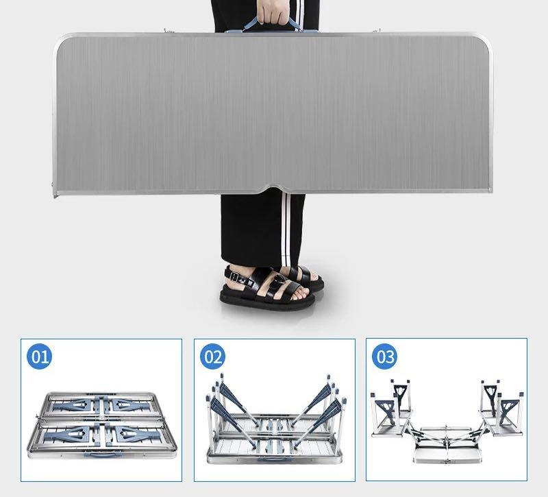 Pre order - Portable/ Folding Aluminium 4 In 1 Table Set