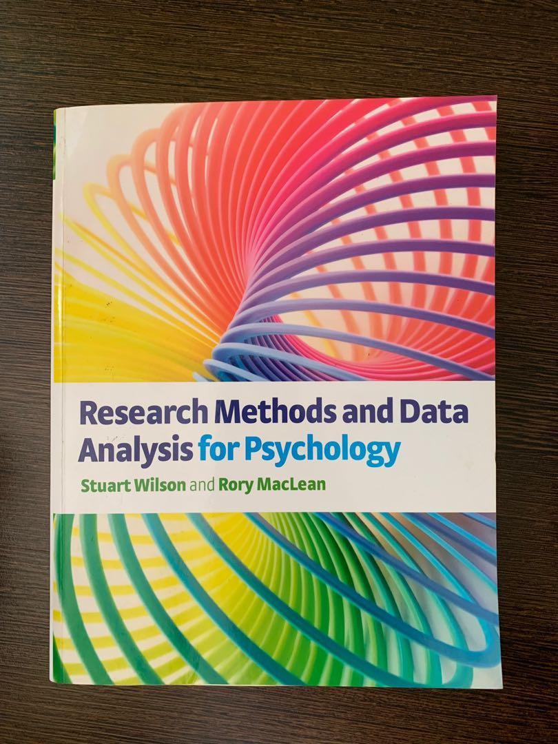 Research Methods and Data Analysis for Psychology Textbook