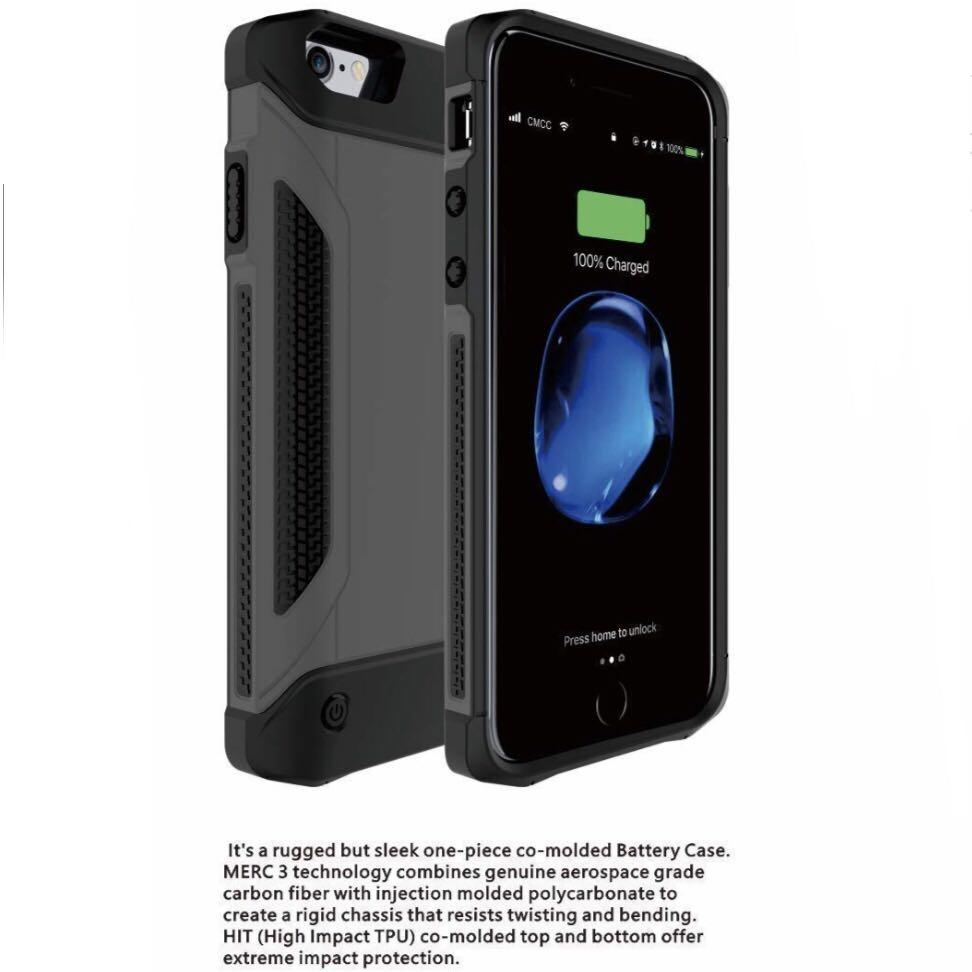 Rugged Backup Battery Charge Case for iPhone PLUS Models 5.5""