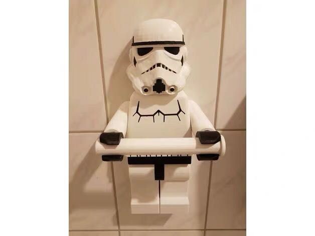 Star Wars Lego Storm Trooper Toilet Paper Roll Tissue Holder Suction Cup Wall Mounting Home Decor Figurine Captain America Marvel Spider Man Spiderman Buzz Lightyear Disney The Hulk Superman First Order Home