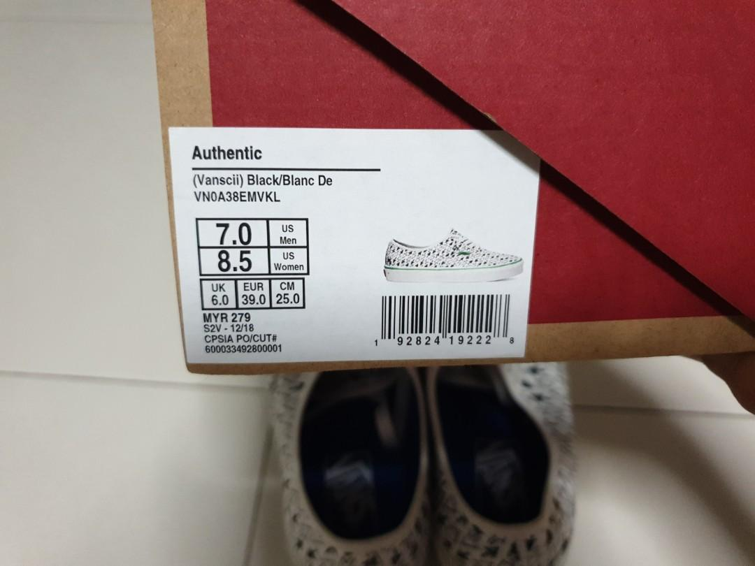 Vans Authentic (Vanscii) size US8/EU39