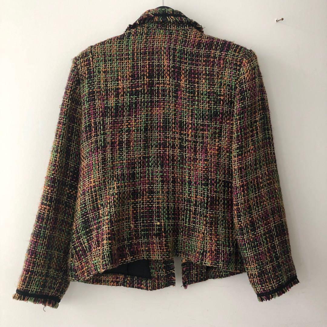 Vintage Colourful Tweed Jacket