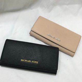 剩粉色 美國店面購入 正品 Michael Kors MK 長夾 扣子款 乾燥玫瑰 黑色 錢包 皮夾 包包 包 卡夾 粉紅色