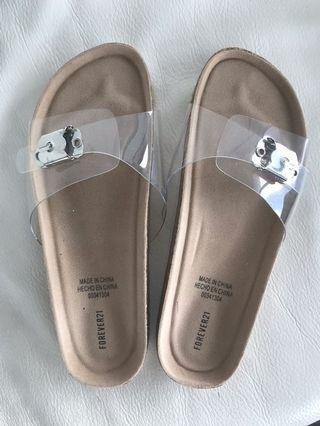 Clear strap sandals (6.5)