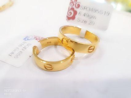 Gold 916 Love Ring 22K