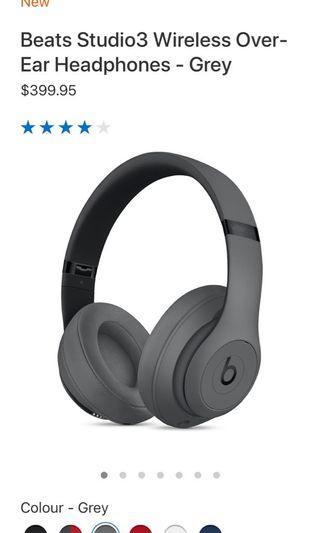 Beats Studio3 wireless over-hear headphone - grey