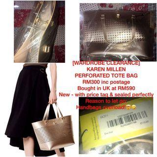 Karen Millen Perforated Tote Bag [AUTHENTIC]