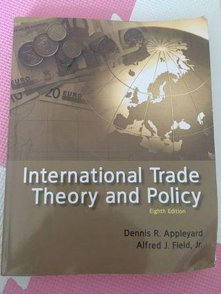 International trade theory and policy 國際貿易理論
