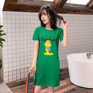 Green garfield dress shirt