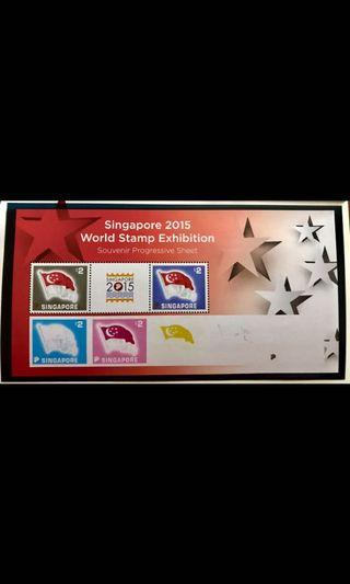 Singapore SG50 2015 flag proof collector sheet perf/Imperf stamps LIMITED EDITION