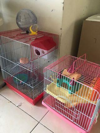 Hamster + 1 CAGE + FREE accessories