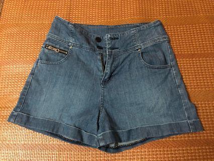 天絲棉牛仔短褲