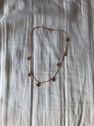 BNWT brandy melville gold star necklace
