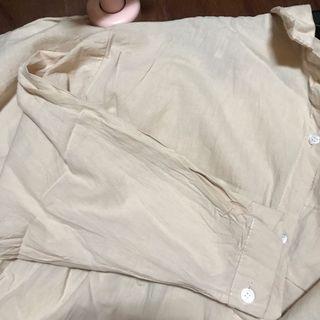 二手-杏色長版襯衫