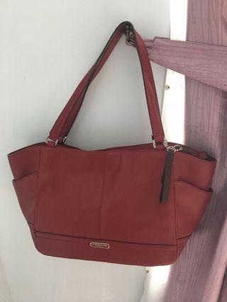Authentic Coach Full Leather Bag in Red from USA