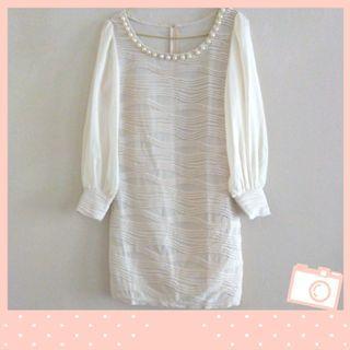 Beige Mini Dress (Bodycon)