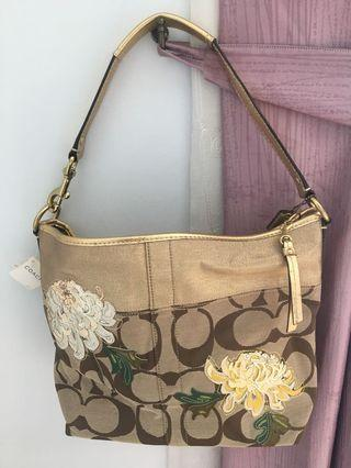 Authentic Coach Tote Bag with Embroidery Flowers from USA