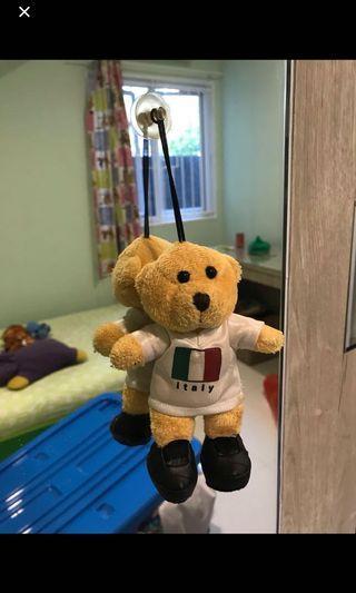 Tempelan kaca boneka beruang football team italy
