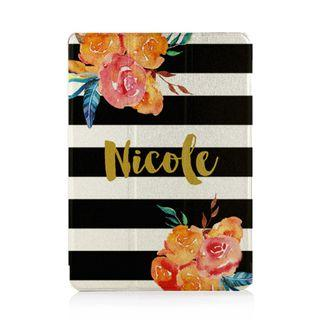 iPad Tablet Case Cover Protective Casing Stripes Floral