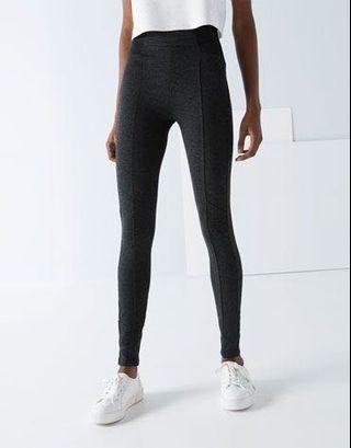 Zara - legging celana ketat bahan cotton abu tua